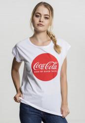 Dámske tričko Merchcode Ladies Coca Cola Round Logo Tee