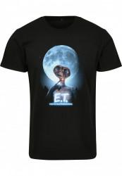 Dámske tričko MERCHCODE Ladies E.T. Face Tee Farba: black,