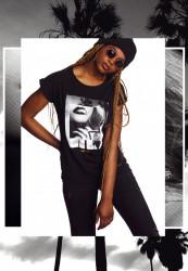 Dámske tričko MERCHCODE Ladies Hustler Smoke Tee Farba: black,