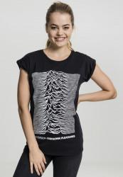 Dámske tričko Merchcode Ladies Joy Divison UP Tee Farba: black,