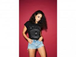 Dámske tričko MERCHCODE Ladies Linkin Park OML Fit Tee Farba: blk/olive,