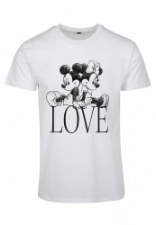 Dámske tričko MERCHCODE Ladies Minnie Loves Mickey Tee Farba: white,