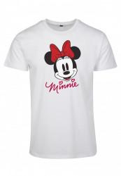 Dámske tričko MERCHCODE Ladies Minnie Mouse Tee Farba: white,