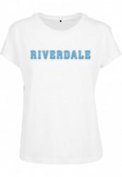 Dámske tričko MERCHCODE Ladies Riverdale Logo Tee Farba: white,