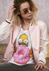 Dámske tričko Merchcode Ladies Simpsons Donut Tee