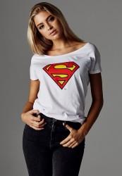 Dámske tričko Merchcode Ladies Superman Logo Tee
