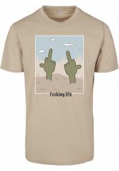 Pánske tričko MR.TEE Fucking Life Tee Farba: sand,