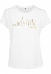 Dámske tričko MR.TEE Ladies Skyline Box Farba: white, Grösse: XS