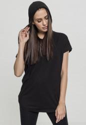 Dámske tričko s krátkym rukávom a kapucňou Urban Classics Ladies Sleeveless Jersey Hoody black