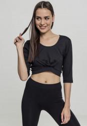 Dámske tričko s krátkym rukávom Urban Classics Ladies Active 3/4 Sleeve Cropped Top