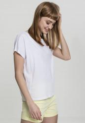 Dámske tričko s krátkym rukávom Urban Classics Ladies Basic Drop Shoulder Tee biele