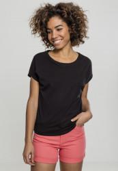 Dámske tričko s krátkym rukávom Urban Classics Ladies Basic Drop Shoulder Tee čierne
