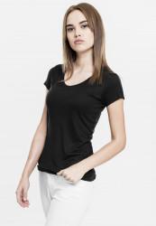 Dámske tričko s krátkym rukávom Urban Classics Ladies Basic Viscose Tee čierne