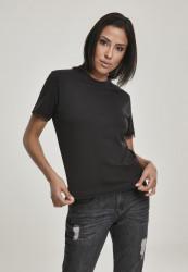 Dámske tričko s krátkym rukávom Urban Classics Ladies Boxy Lace Hem Tee black