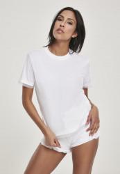 Dámske tričko s krátkym rukávom Urban Classics Ladies Boxy Lace Hem Tee white