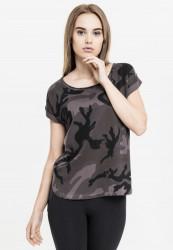 Dámske tričko s krátkym rukávom Urban Classics Ladies Camo Back Shaped Tee dark camo