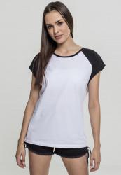 Dámske tričko s krátkym rukávom Urban Classics Ladies Contrast Raglan Tee