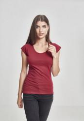 Dámske tričko s krátkym rukávom Urban Classics Ladies Cutted Back Tee burgundy