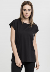 Dámske tričko s krátkym rukávom Urban Classics Ladies Extended Shoulder Tee black