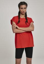 Dámske tričko s krátkym rukávom Urban Classics Ladies Extended Shoulder Tee bloodorange