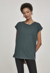 Dámske tričko s krátkym rukávom Urban Classics Ladies Extended Shoulder Tee bottlegreen