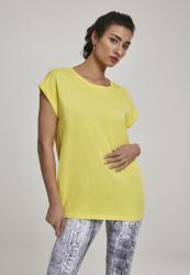 Dámske tričko s krátkym rukávom Urban Classics Ladies Extended Shoulder Tee brightyellow