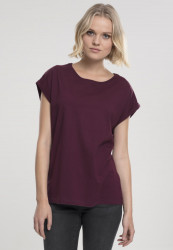 Dámske tričko s krátkym rukávom Urban Classics Ladies Extended Shoulder Tee cherry
