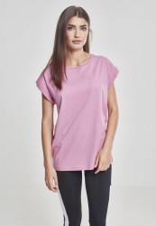 Dámske tričko s krátkym rukávom Urban Classics Ladies Extended Shoulder Tee coolpink