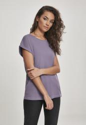 Dámske tričko s krátkym rukávom Urban Classics Ladies Extended Shoulder Tee dustypurple