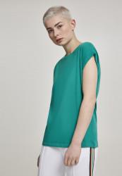 Dámske tričko s krátkym rukávom Urban Classics Ladies Extended Shoulder Tee fresh green