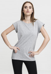 Dámske tričko s krátkym rukávom Urban Classics Ladies Extended Shoulder Tee grey