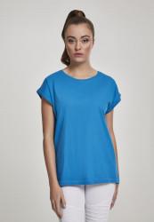 Dámske tričko s krátkym rukávom Urban Classics Ladies Extended Shoulder Tee hawaiianblue
