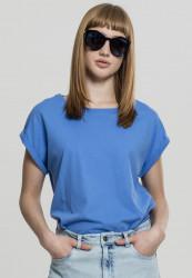 Dámske tričko s krátkym rukávom Urban Classics Ladies Extended Shoulder Tee horizonblue