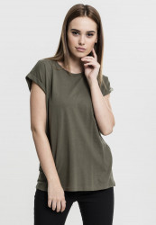 Dámske tričko s krátkym rukávom Urban Classics Ladies Extended Shoulder Tee olive