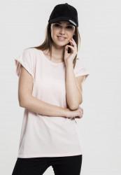Dámske tričko s krátkym rukávom Urban Classics Ladies Extended Shoulder Tee pink