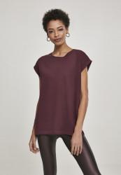Dámske tričko s krátkym rukávom Urban Classics Ladies Extended Shoulder Tee redwine