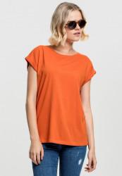 Dámske tričko s krátkym rukávom Urban Classics Ladies Extended Shoulder Tee rustorange