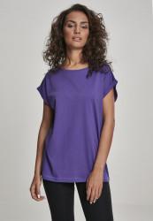 Dámske tričko s krátkym rukávom Urban Classics Ladies Extended Shoulder Tee ultraviolet
