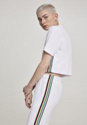 Dámske tričko s krátkym rukávom Urban Classics Ladies Multicolor Side Taped Tee biela