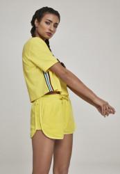 Dámske tričko s krátkym rukávom Urban Classics Ladies Multicolor Side Taped Tee žlté