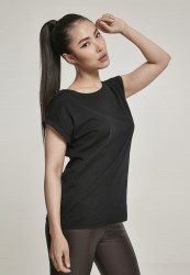 Dámske tričko s krátkym rukávom Urban Classics Ladies Organic Extended Shoulder Tee black