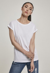 Dámske tričko s krátkym rukávom Urban Classics Ladies Organic Extended Shoulder Tee white