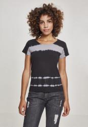 Dámske tričko s krátkym rukávom Urban Classics Ladies Striped Tie Dye Tee