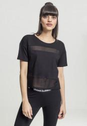 Dámske tričko s krátkym rukávom Urban Classics Ladies Tech Mesh Tee blk/blk
