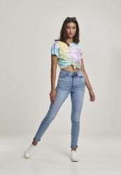 Dámske tričko s krátkym rukávom Urban Classics Ladies Tie Dye Boyfriend Tee pastel