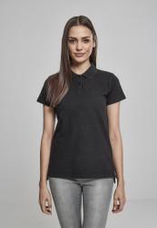 Dámske tričko s krátkym rukávom Urban Classics Ladies Wash Polo Tee black
