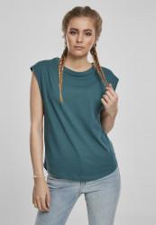 Dámske tričko Urban Classics Ladies Basic Shaped Tee teal