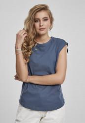Dámske tričko Urban Classics Ladies Basic Shaped Tee vintageblue