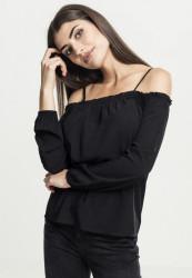 Dámske tričko Urban Classics Ladies Cold Shoulder Longsleeve