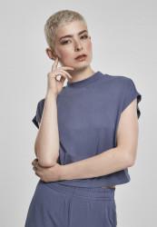 Dámske tričko Urban Classics Ladies Modal Short Tee vintageblue
